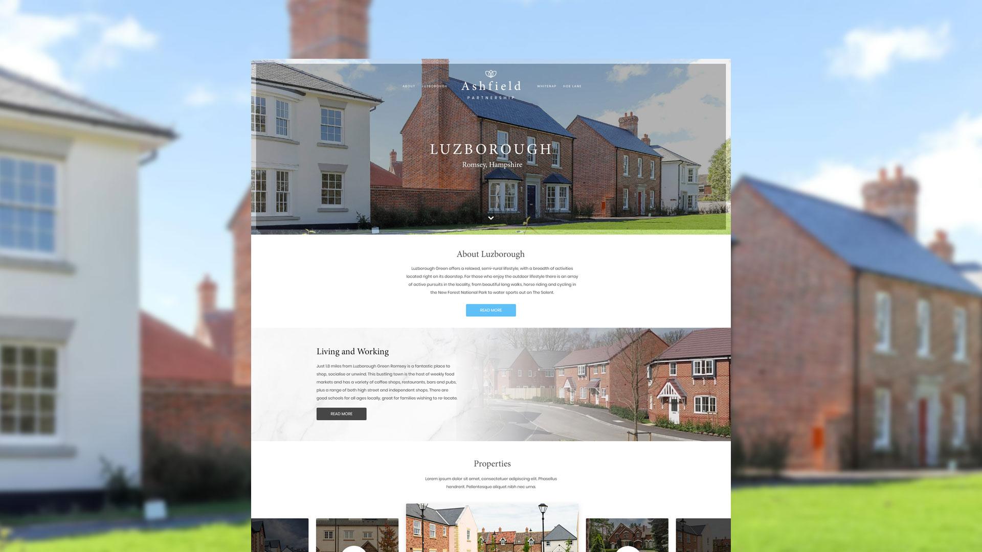 The Ashfield Partnership - Website Mockup