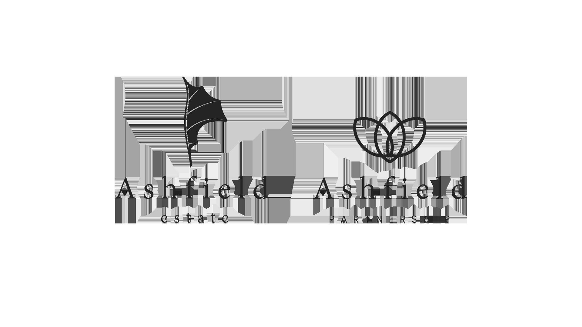 Ashfield Partnership and Ashfield Estate - Black and White Logo